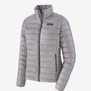 Patagonia grey down weather jacket in small